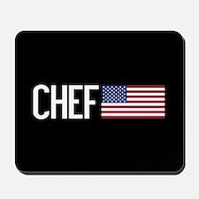 Careers: Chef (U.S. Flag) Mousepad
