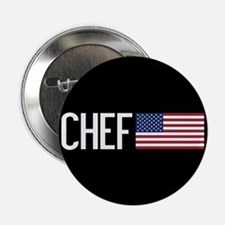 """Careers: Chef (U.S. Flag) 2.25"""" Button (10 pack)"""