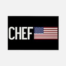 Careers: Chef (U.S. Fl Rectangle Magnet (100 pack)
