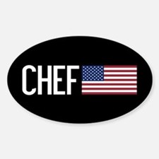 Careers: Chef (U.S. Flag) Sticker (Oval)