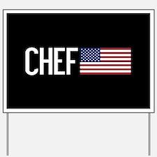 Careers: Chef (U.S. Flag) Yard Sign