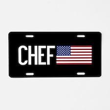 Careers: Chef (U.S. Flag) Aluminum License Plate