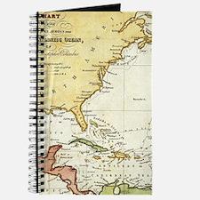 Vintage Christopher Columbus Voyage Map (1 Journal