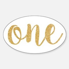gold one Decal