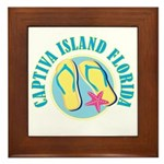 Captiva Flip Flops - Framed Tile
