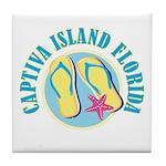 Captiva Flip Flops - Tile Coaster
