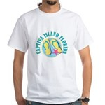Captiva Flip Flops - White T-Shirt