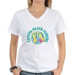 Captiva Flip Flops - Women's V-Neck T-Shirt