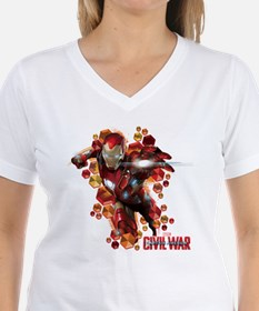 Civil War Iron Man Hexagons Shirt