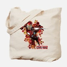 Civil War Iron Man Hexagons Tote Bag