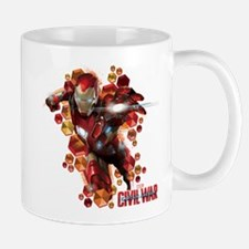 Civil War Iron Man Hexagons Mug