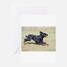 gordon setter in motion Greeting Cards
