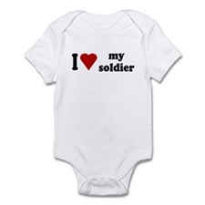 I Love My Soldier Infant Bodysuit