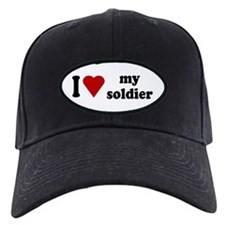 I Love My Soldier Baseball Hat