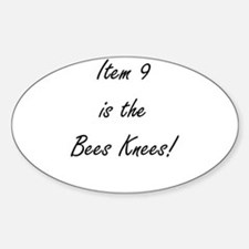 Item 9 is the Bees Knees Decal