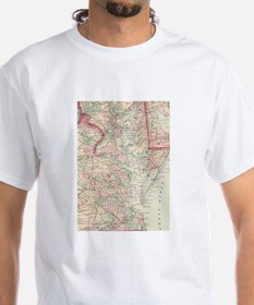 Vintage Map of The Chesapeake Bay (1875) T-Shirt