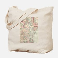 Vintage Map of The Chesapeake Bay (1875) Tote Bag