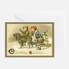 Vintage Snowfall Christmas Card