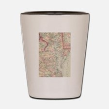 Vintage Map of The Chesapeake Bay (1875 Shot Glass