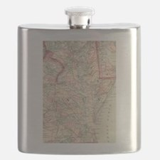 Vintage Map of The Chesapeake Bay (1875) Flask