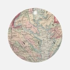 Vintage Map of The Chesapeake Bay ( Round Ornament