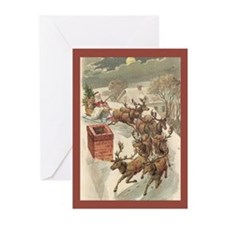 Up On The Housetop Christmas Cards (Pk of 20)