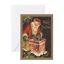Santa's Big Night Christmas Card