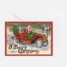 Santa's Vintage Jalopy Christmas Cards (Pk of 10)