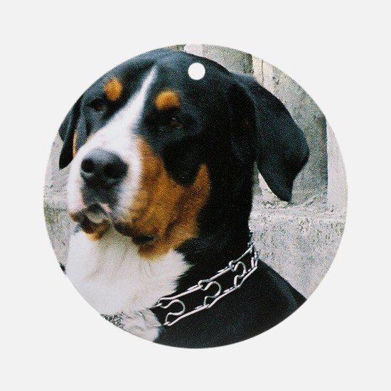 greater swiss mountain dog Round Ornament