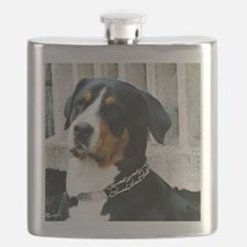 greater swiss mountain dog Flask
