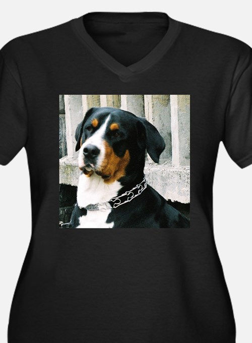 greater swiss mountain dog Plus Size T-Shirt