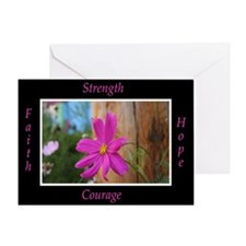 Survivors Pink Flower Greeting Card