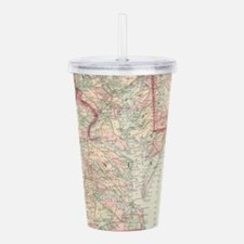 Vintage Map of The Che Acrylic Double-wall Tumbler