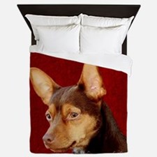 Funny Rescued horses Queen Duvet
