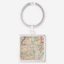 Vintage Map of The Chesapeake Bay (1875) Keychains