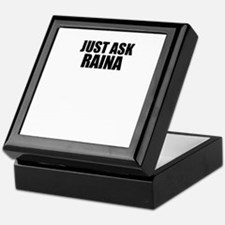 Just ask RAINA Keepsake Box