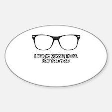 Black Geek Glasses Decal