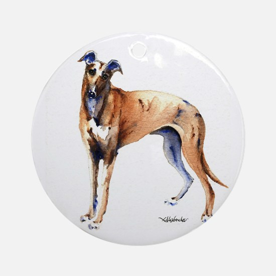 Cute Greyhound lover Round Ornament