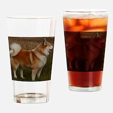 icelandic sheepdog full Drinking Glass