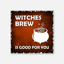 "WITCHES BREW Square Sticker 3"" x 3"""