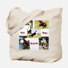 Red Dogs Rule - Frisbee! Tote Bag
