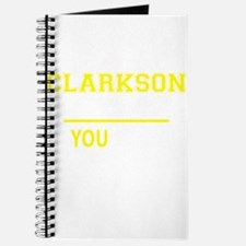 CLARKSON thing, you wouldn't understand! Journal