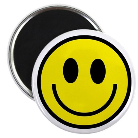 Classic Yellow Smiley Face Magnet
