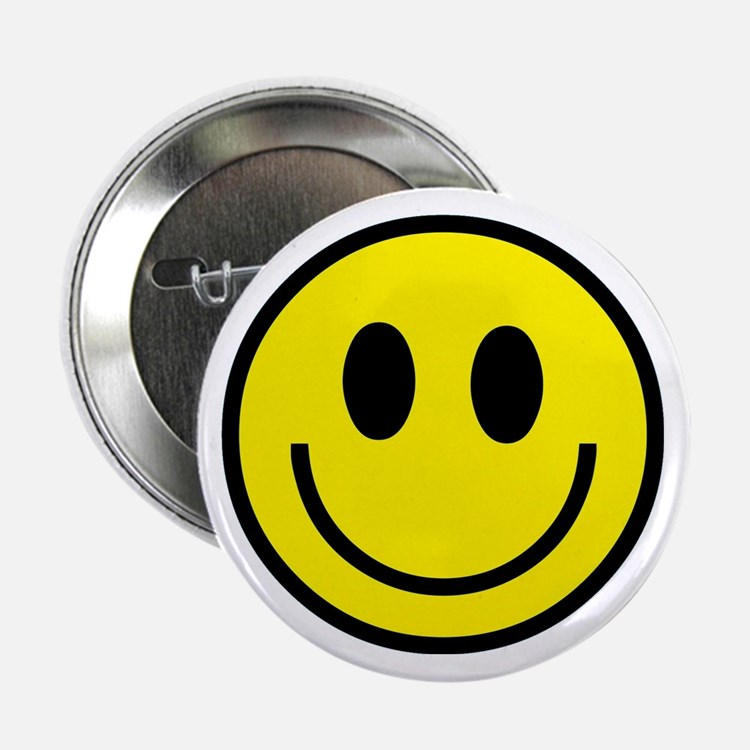 Classic Yellow Smiley Face Button