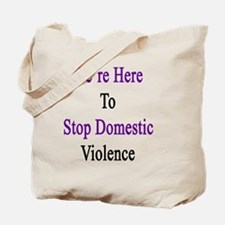 Unique Support domestic violence awareness Tote Bag