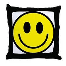 Classic Yellow Smiley Face Throw Pillow