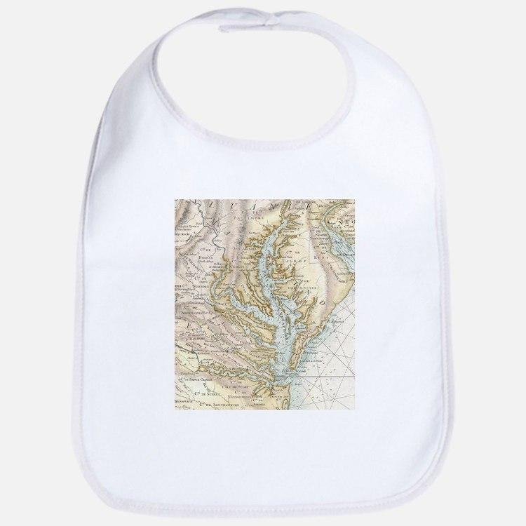 Vintage Map of The Chesapeake Bay(1778) 2 Bib