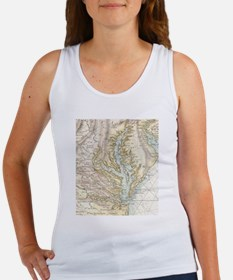 Vintage Map of The Chesapeake Bay(1778) 2 Tank Top