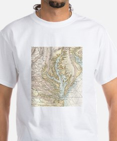 Vintage Map of The Chesapeake Bay(1778) 2 T-Shirt