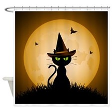 WITCHY CAT Shower Curtain